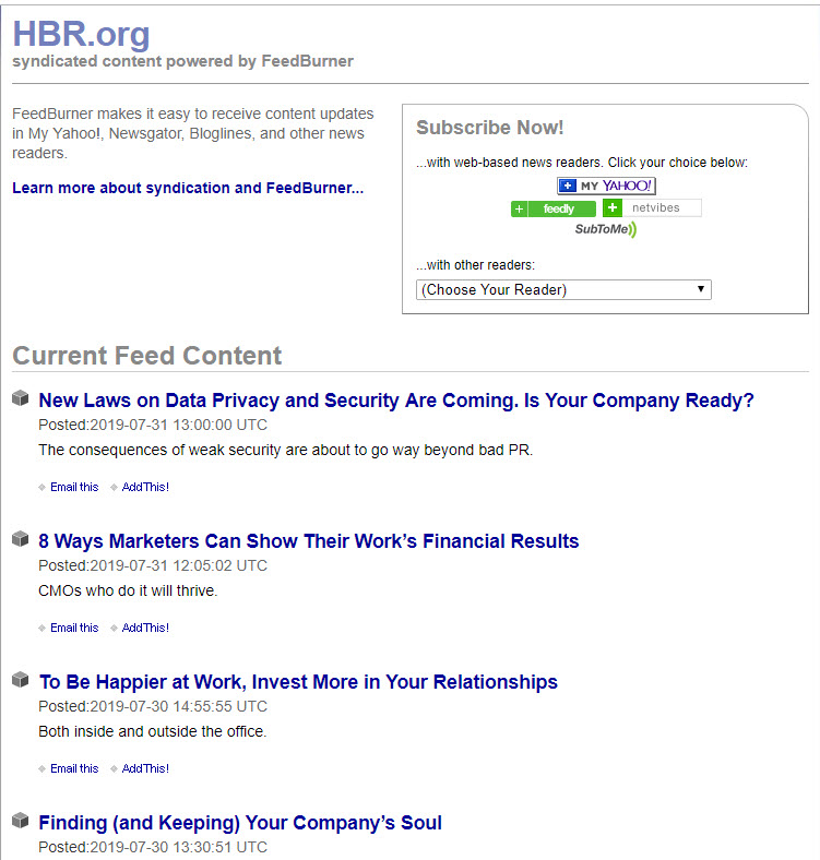 HBR org Website - RSS Feed – Harvard Business Publishing